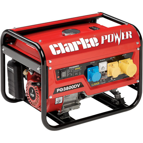 Image of Clarke Clarke PG3800DV 3kVA 230V/110V Dual Voltage Petrol Generator