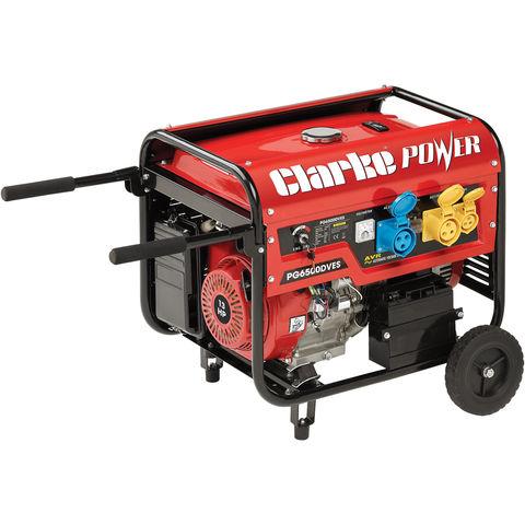 Image of Clarke Clarke PG6500DVES 5.5kVA 230V/110V Dual Voltage Petrol Generator