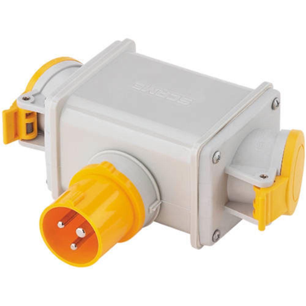 Clarke 2-Way Adaptor Plug 16A 110V - Machine Mart - Machine Mart