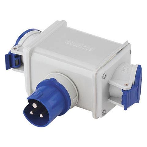 Image of Clarke Clarke 230V 16A 2-Way Adaptor Plug