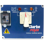 Clarke Manual Mains Changeover Switch for KC6 & KC10 Diesel Generators