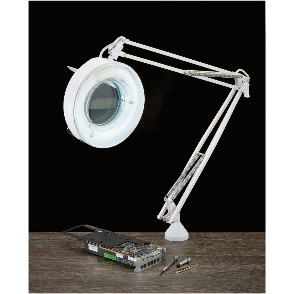 tensor lens in lamp magnifying magnifiers heavy magnifier p desk lighted led black with inspection