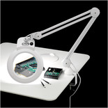Clarke SAM170 Desk Mounted Magnifying LED Lamp