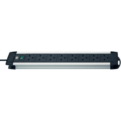 Image of Brennenstuhl Brennenstuhl 05VV-F 3G1,25 3m 8-way Premium-Alu-Line Extension Socket