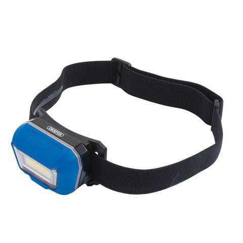 Image of Draper Draper RHL3 Rechargeable 3W COB LED Head Lamp