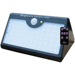 Nightsearcher Solar Sentry 1100 Solar Powered LED Wall Security Light with Sensor & Remote Control