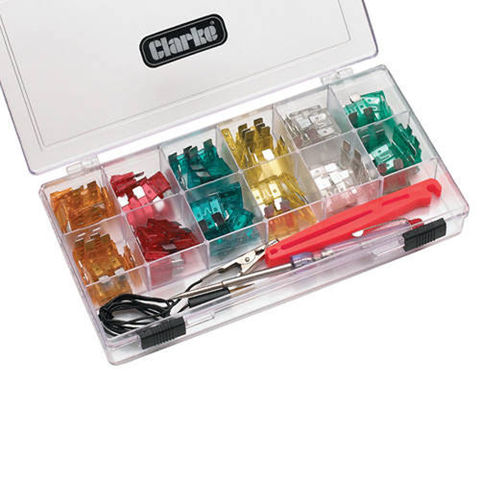 Image of Clarke Clarke 93pce Circuit Tester and Car Fuse Kit - CHT570