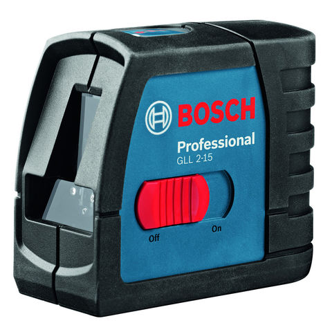 Photo of Machine mart xtra bosch gll 2-15 professional 2 line laser with bosch bs 150 tripod