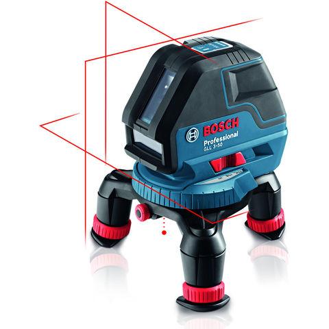 Photo of Bosch bosch gll 3-50 professional line laser- rotating mini tripod & l-boxx