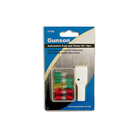 Image of Machine Mart Xtra Gunson 77103 - 13 Piece Auto Fuse And Tester Kit