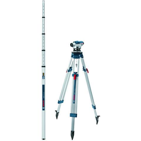 Photo of Machine mart xtra bosch gol 26 d professional optical level- bt 160 tripod & gr 500 measuring rod