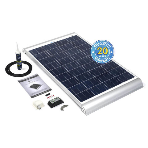 Image of Solar Technology International PV Logic 100Wp Motorhome Kit Alloy Aero Fitting Kit