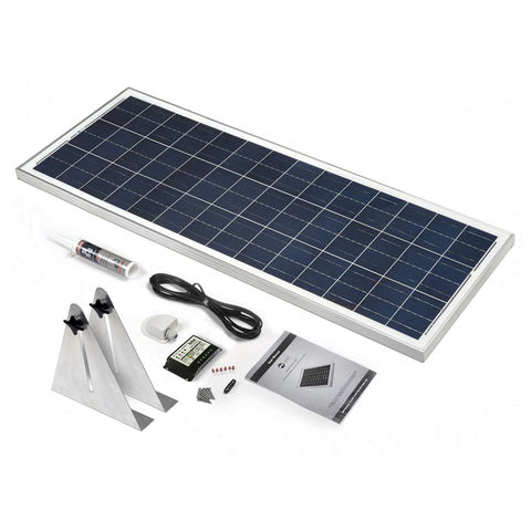 Image of Solar Technology International PV Logic 100Wp Narrowboat Kit with Alloy Brackets