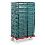 Barton Storage 88880-01PP/6412 Euro Container Dolly With 9 x 22ltr Containers