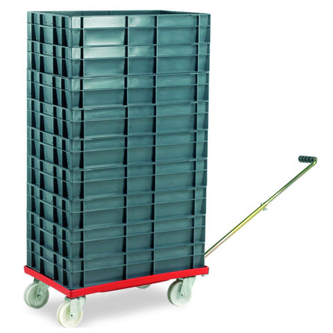 Image of Barton Storage Barton Storage 88880-01WH/6412 Euro Container Dolly With Handle & 9 x 22ltr Containers