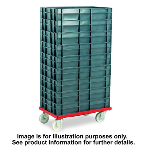 Image of Machine Mart Xtra Barton Storage 88880-01PP/6417 Euro Container Dolly With 7 x 30ltr Containers