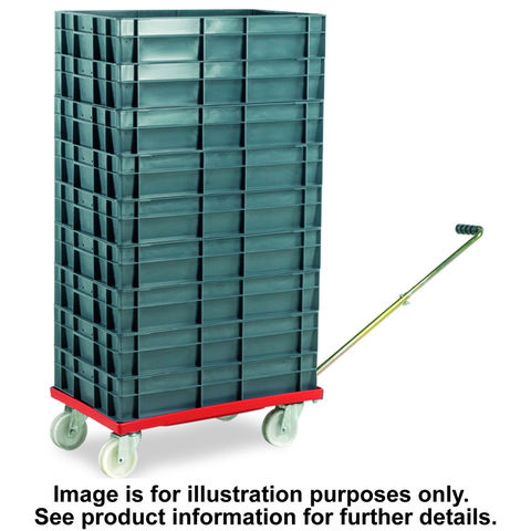 Image of Barton Storage Barton Storage 88880-01WH/6417 Euro Container Dolly With Handle & 7 x 30ltr Containers