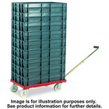 Barton Storage 88880-01WH/6417 Euro Container Dolly With Handle & 7 x 30ltr Containers