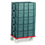 Barton Storage 88880-01PP/6420 Euro Container Dolly With 5 x 40ltr Containers