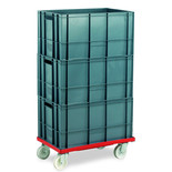 Barton Storage 88880-01PP/6432 Euro Container Dolly With 3 x 60ltr Containers