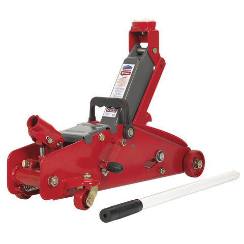 Image of Sealey Sealey 2000LJ 2 Tonne Trolley Jack with Safety Lock
