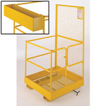 Barton Fork Lift Safety Cage with Tool Box