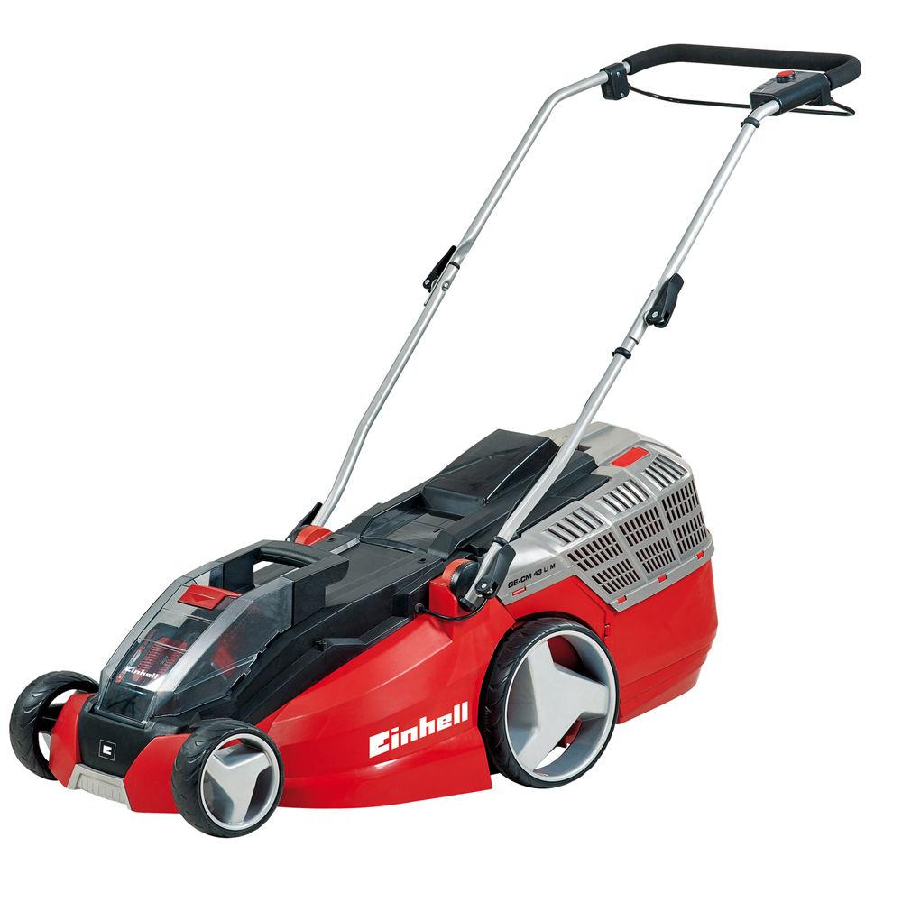 einhell power-x-change ge-cm 43 li m cordless lawnmower with 2x4.0ah