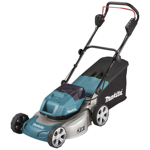 Makita Makita DLM460PG2 46cm Lawn Mower Twin 18V LXT Kit with 2 x 6Ah Batteries and Twin Charger