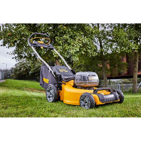 Image of DeWalt XR FlexVolt DeWalt 2 x 18V Brushless Lawnmower 480mm With 2 x 5Ah Batteries