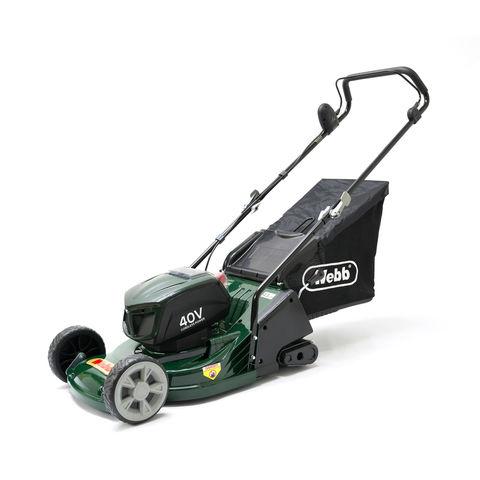 Webb Webb RR17LIP 430mm Cordless Rotary Lawn Mower with 4Ah battery