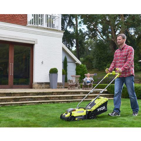 Image of Ryobi One+ Ryobi One+ RLM18X33H40 18V Cordless Lawnmower 1x4.0Ah Battery
