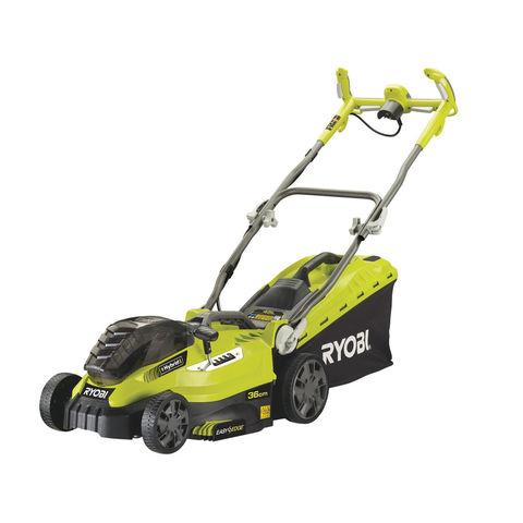 Image of Ryobi One+ Ryobi One+ RLM18C36H225 36V Hybrid Lawn Mower and 2 x 2.5Ah Batteries