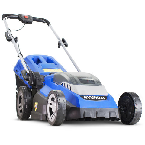 Hyundai Hyundai HYM40LI380P 40V Lithium-Ion Cordless Battery Powered Roller Lawn Mower - 38cm Cutting Width With Battery & Charger