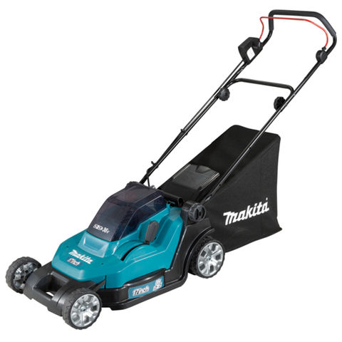 Makita Makita DLM432PG2 43cm Lawn Mower with 2 x 6Ah Batteries & Twin Port Charger
