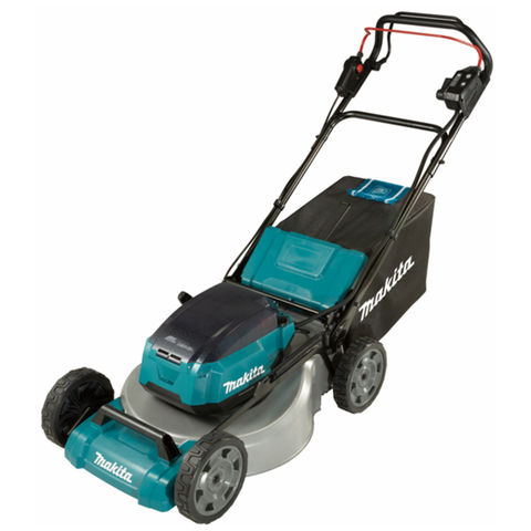 Makita Makita DLM462PT4 46cm Lawn Mower Steel Deck, Self-Propelled with 4 x 5Ah Batteries & Twin Port Charger