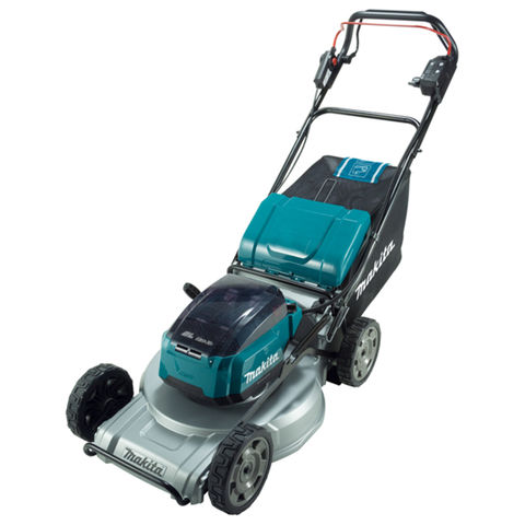 Makita Makita DLM533PG2 53cm Lawn Mower Self-Propelled with Aluminium Deck with 2 x 6Ah Batteries & Twin Port Charger