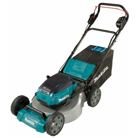 Makita Makita DLM530PT4 53cm Lawn Mower Steel Deck with 4 x 5Ah Batteries & Twin Port Charger
