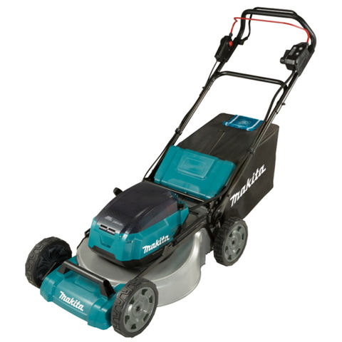 Makita Makita DLM532PT4 53cm Lawn Mower Self-Propelled, Steel Deck with 4 x 5Ah Batteries & Twin Port Charger