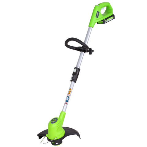 Image of Greenworks Greenworks GWG24LTK2 24V 300mm Line Trimmer 1x2.0Ah Battery
