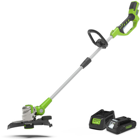 Image of Greenworks Greenworks GWG24LT30K2 24V Deluxe String Trimmer with 2Ah Battery and Charger