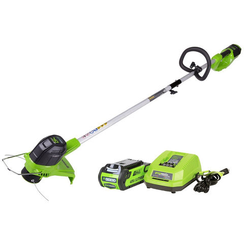 Image of Greenworks Greenworks GWG40LTK2 40V Line Trimmer with 2Ah Battery & Charger