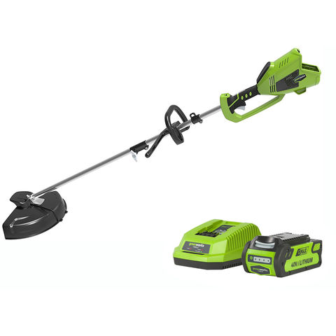 Image of Greenworks Greenworks GWGD40BCK2 40V 2 in 1 Trimmer with 2Ah Battery and Charger