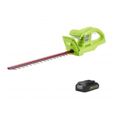 Greenworks Greenworks GWG24HTK2 24V Cordless 570mm Hedge Trimmer with 2Ah Battery & Charger