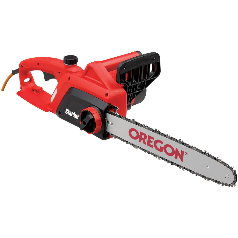 small electric chainsaw. clarke cecs405c electric chainsaw small m