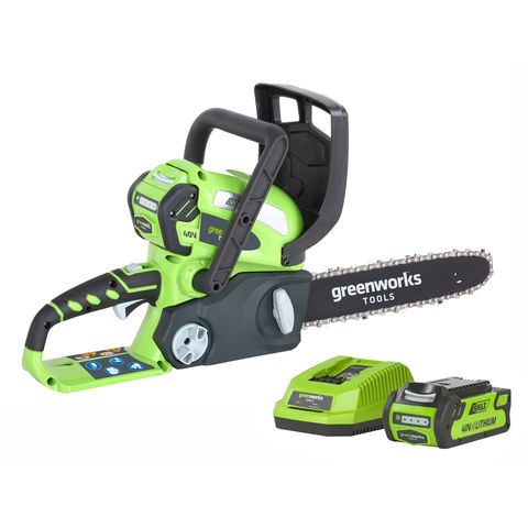 Greenworks Greenworks GWG40CS30K2 30cm 40V Cordless Chainsaw with 2Ah Battery and Charger