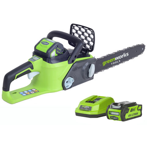 Greenworks Greenworks GWGD40CS40K2 40cm 40V Cordless Chainsaw with 2Ah Battery and Charger
