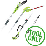 Greenworks G40PSH 40V Long Reach Hedge Trimmer & Pruner (Bare Unit)