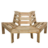 Forest 85x166x75cm Timber Tree Seat
