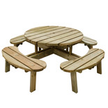 Forest 72x207x207cm Circular Picnic Table