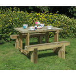 Forest 1.2m Sleeper Bench and Refectory Table Set